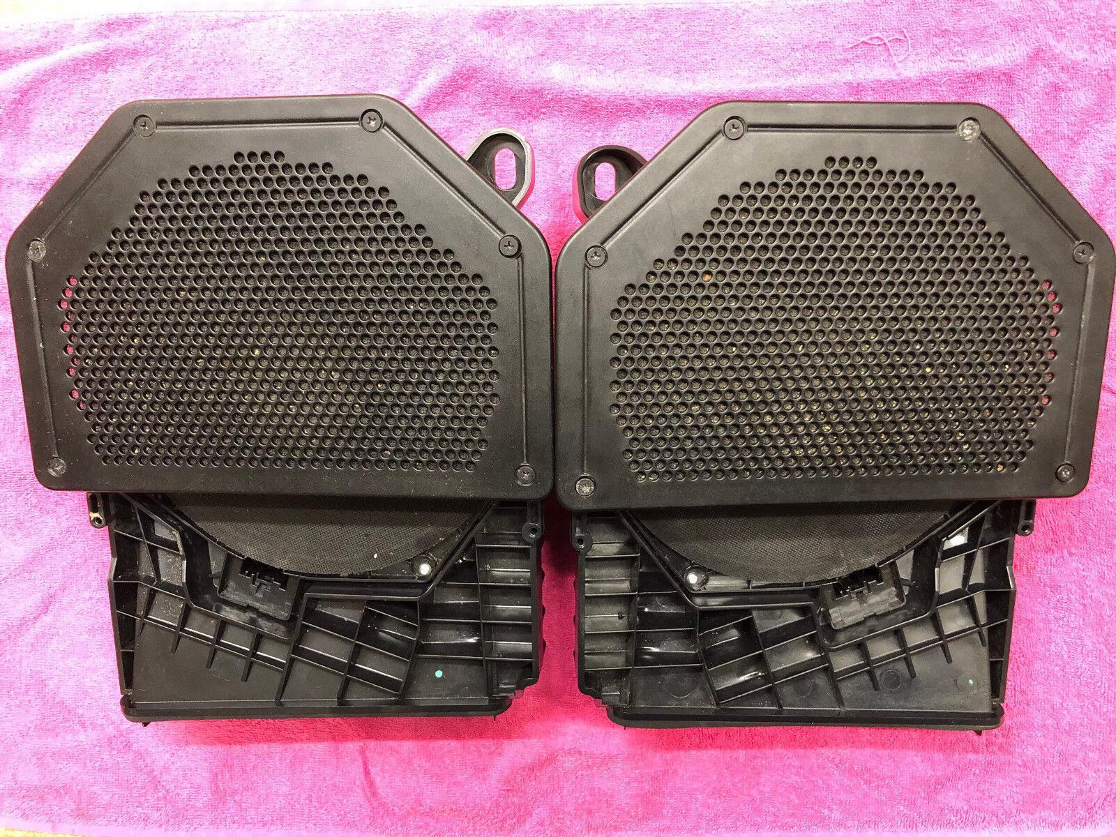 BMW 3 Series E90 E91 2x Speaker Footwell Box Bass Set 75492902 75492911