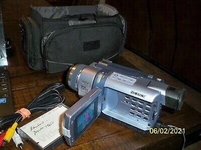 Sony DCR-TRV340 Camcorder - Silver TESTED NEEDS MEMORY STICK USED CONDITION