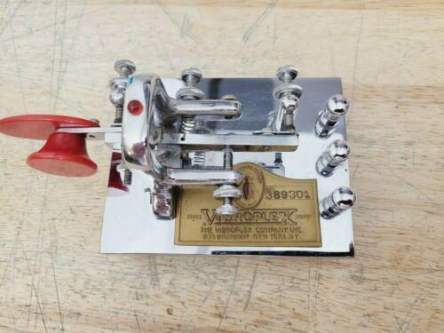 Vibroplex Iambic Key Morse Code Telegraph Chrome C MY OTHE RHAM RADIO GEAR iCOM