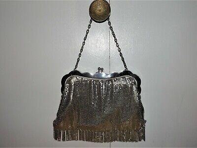 1930s Handbags and Purses Fashion VTG. 1930'S WHITING & DAVIS SILVER MESH SNAP LOCK TASSEL SCALLOP HANDBAG_PURSE $99.99 AT vintagedancer.com