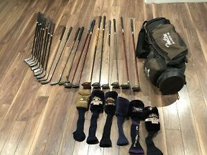 Assorted Golf Clubs & Ping Bag - Drivers & Putters, covers & mor