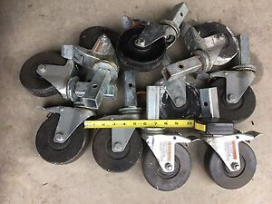 8 Scaffold Casters 5 inch wheels with brakes