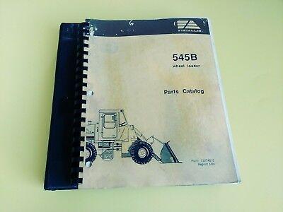 Fiat Allis 545b Wheel Loader Parts Catalog 2 Books Pre-owned