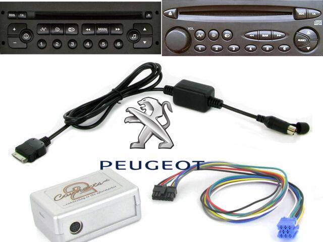 Peugeot 206 307 406 407 607 807 RD3 iPod adapter interface iPhone CTAPGIPOD010.2