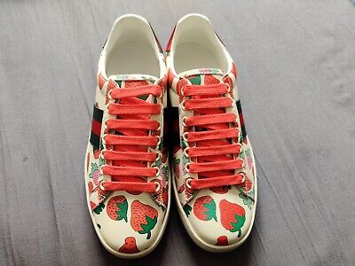 Gucci new strawberry sneakers made in Italy brand new without Box RRP £597.06