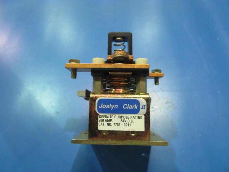 JOSLYN CLARK 7702-9011 200 AMP 54 V.D.C. CONTACTOR