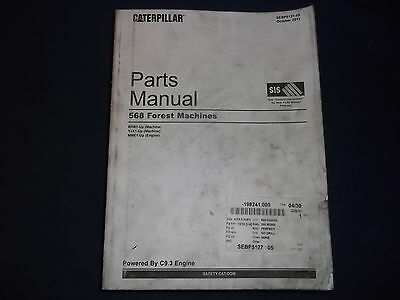 Cat Caterpillar 568 Forest Machine Parts Book Manual Sn Brb Yjx