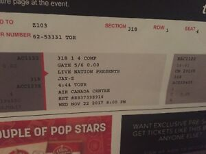 2 JayZ tickets for Wednesday November 22!