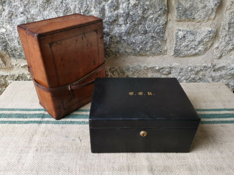 A Victorian Leather Jewellery Box by Hill & Millard