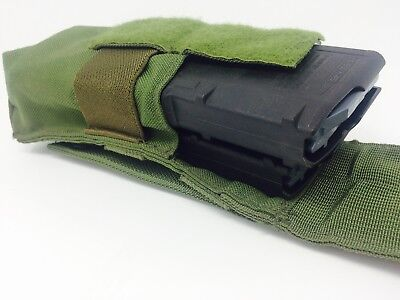 NEW US Military Double 223 Green Molle Pouch Ranger  5.56 Ammo Mag Magazine 7.62