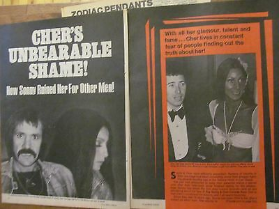 Sonny and Cher, Four Page Vintage Clipping