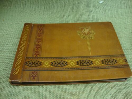 leather bound vintage photo album