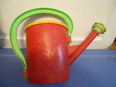 """Vintage VERA-TOYS WATERING CAN  NY USA   Plastic  8"""" tall"""
