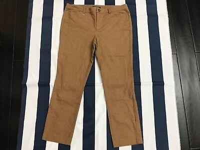 🔥Vintage Women Ralph Lauren Pants Slacks Brown Cotton Blend Trousers 12 Vtg 🔥