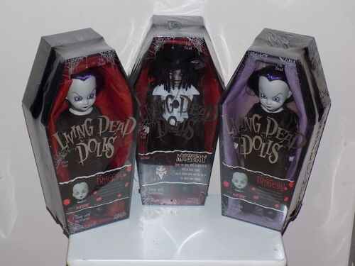 3 Living Dead Dolls Mezco 2 Tragedy,1 Misery Dolls Hot Topic Exclusives Sealed