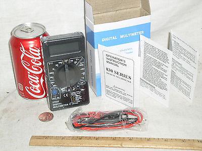 Digital Low Cost Student Handheld Lcd Dvm Vom Multimeter Volt Amp Ammeter Meter