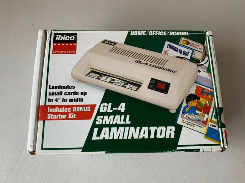 Ibico GL-4 Desktop Laminator Photo ID Business Card Laminator