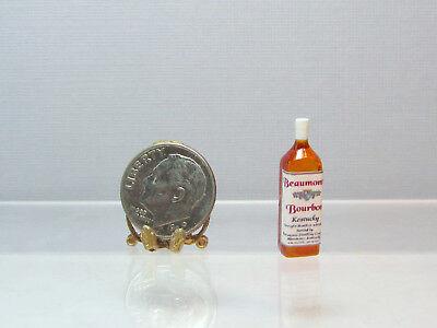 Dollhouse Miniature Plastic Beaumont Bourbon Bottle