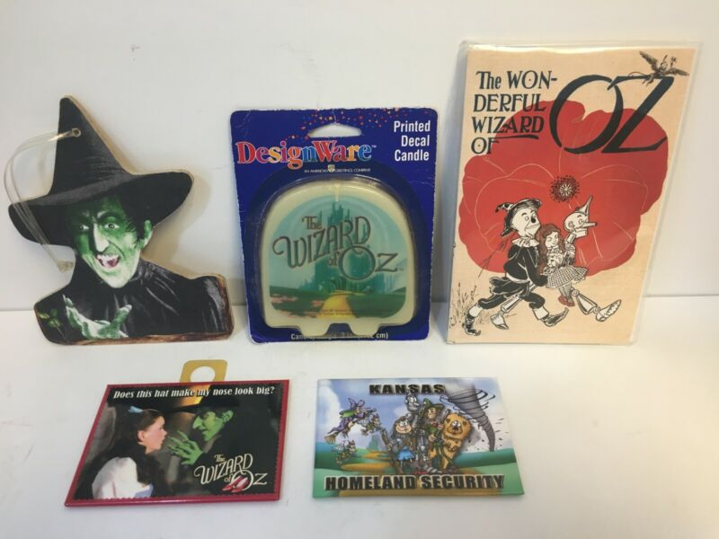 Wizard Of Oz Post Cards, Candle, 2 Magnets and Wicked Witch Ornament