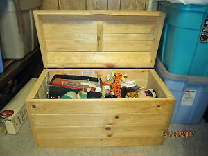 Solid Pine wood chest