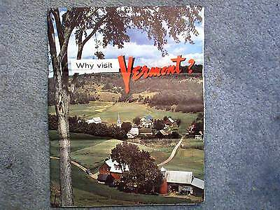 1960 VERMONT TRAVEL GUIDE BOOK MAGAZINE BROCHURE AND MAP