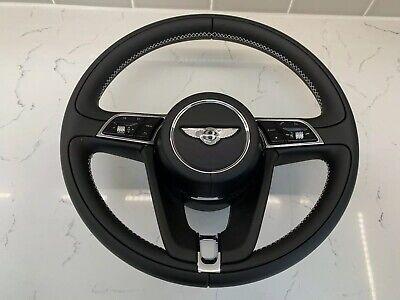 NEW 2019 Black Beluga Bentley  GT/GTC 3 Spoke OEM Leather Sport Steering Wheel