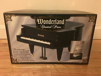 Wonderland Black Grand Piano Music Box Assorted Classical Music Tunes Brand New! Black Classic Grand Piano