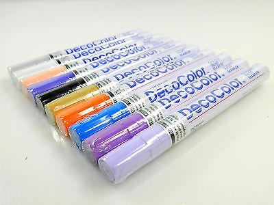10 Mix Color Marvy Uchida Broad Line Deco Color Opaque Paint Marker ()