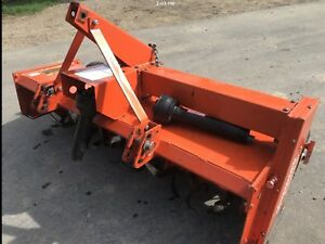 Three point hitch rototiller