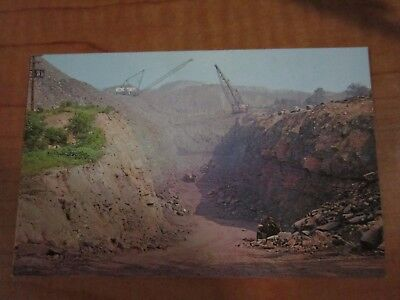 Vintage Unposted Two Giant Shovels in a Coal Stripping Operation in PA Postcard
