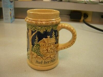 "Used, Gorgeous Antique German Beer Stein ""Auf der Alm ist es scjon"" is below pictures  for sale  Crystal River"