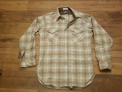 1970s Mens Shirt Styles – Vintage 70s Shirts for Guys Vtg 1970s Pendleton High Grade Western Wear Wool Shirt Pearl Snap Brown Men's M $23.00 AT vintagedancer.com