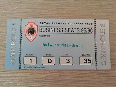 Ticket Antwerp FC - NAC Breda 1996 Friendly Amicale Oefen