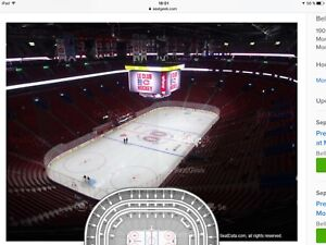 Paire de Billets du canadiens 24 oct