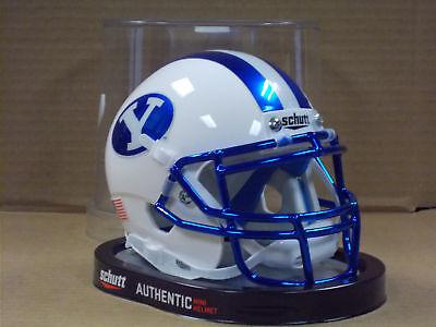 BRIGHAM YOUNG BYU COUGARS (BLUE CHROME) Schutt XP Mini Helmet - Cougar Helmet