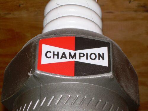 "Champion Spark Plug DECALS, set of 3 to restore vintage 22"" plastic spark plug"