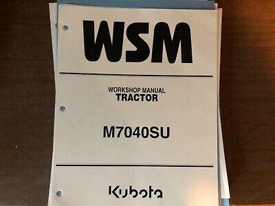 Kubota Workshop Manual M7040su
