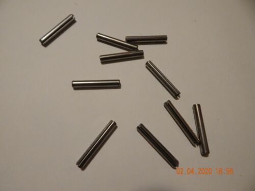 "STAINLESS STEEL ROLL PINS   7/32 x 1 1/2""   18-8  10 PCS.  NEW"