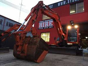 EXCAVATOR HIRE - 8 TONNE ZERO SWING EXCAVATOR DRY HIRE + BUCKETS Belmore Canterbury Area Preview
