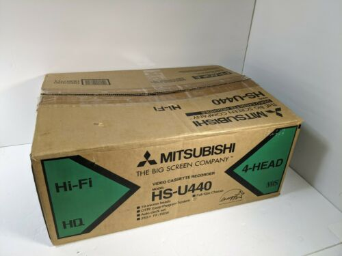 Mitsubishi HS-U440 VCR VHS Player w/ remote, original box, manual, AV cable