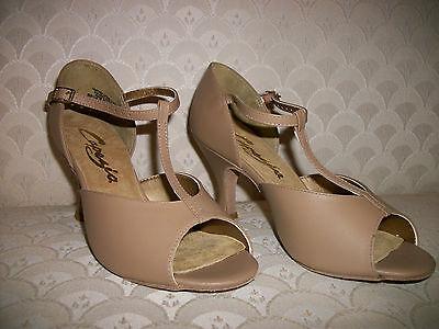 """Latin Dance Shoes Capezio Sandal BR08 2.5"""" Black Taupe Silve"""