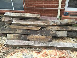 FREE - qty of large garden wood sleepers Frenchs Forest Warringah Area Preview