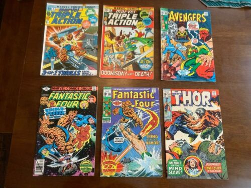 SILVER AGE COMIC LOT THOR, AVENGERS, FANTASTIC FOUR, TRIPLE ACTION