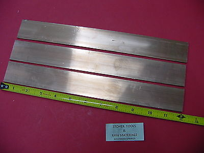 3 Pieces 18x 1-12 C110 Copper Bar 12 Long Solid Flat Mill Bus Bar Stock H02