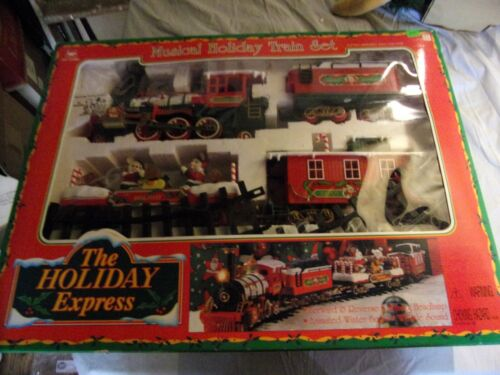 New Brite The Holiday Express Musical Train Set 1996 Christmas in Box