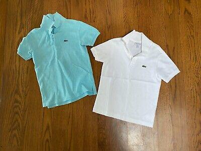 Lacoste Boys Size 8 100% Cotton Short Sleeve Shirts - Excellent Condition
