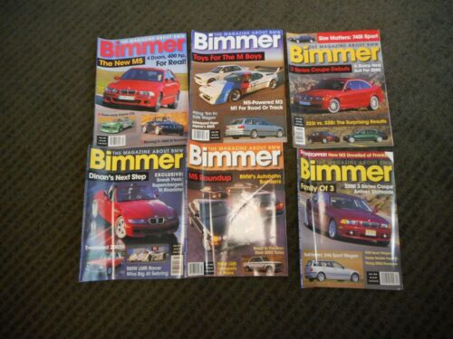 1999 BIMMER BMW Magazine Lot of 6 M-Roadster M-Coupe M5 E46 Sport Wagon