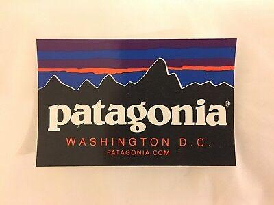 Patagonia Store Washington Dc Logo Sticker Decal Mountain Capital Georgetown D C