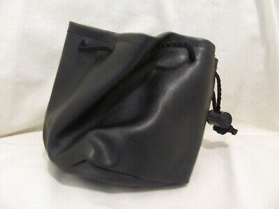 Pvc Drawstring Giftjewelrytrinket Pouchbag - Black