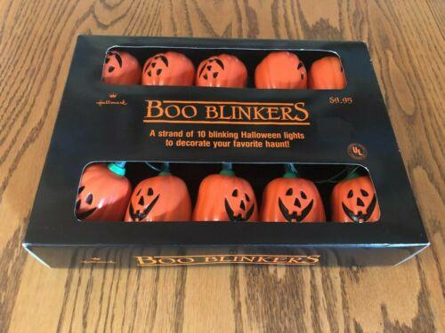 Vintage 1989 Hallmark Pumpkin Jack O Lantern Boo Blinker String Lights brand new